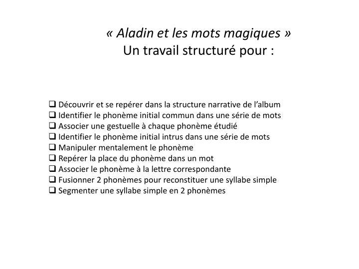 «Aladin et les mots magiques»