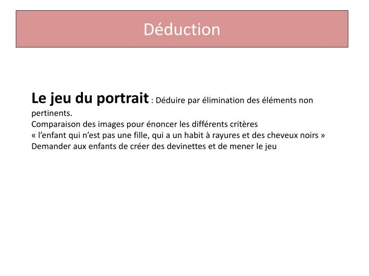 Déduction
