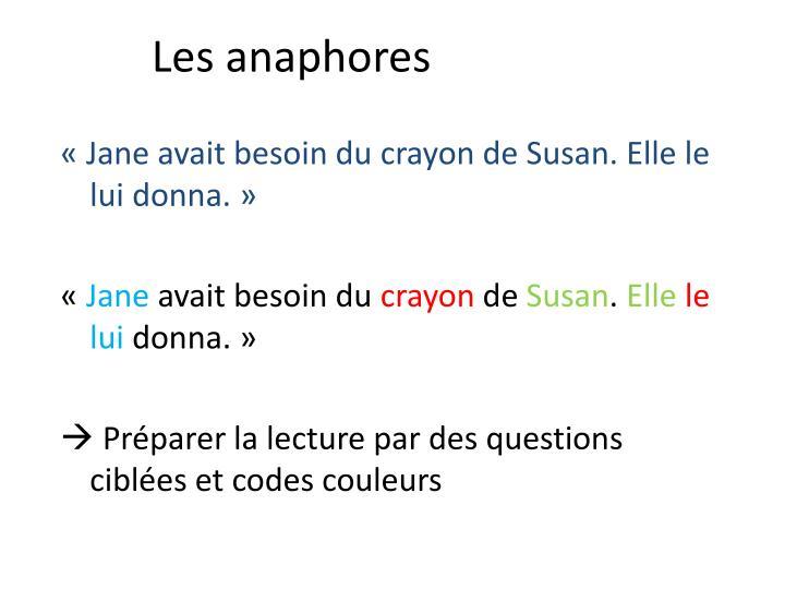 Les anaphores