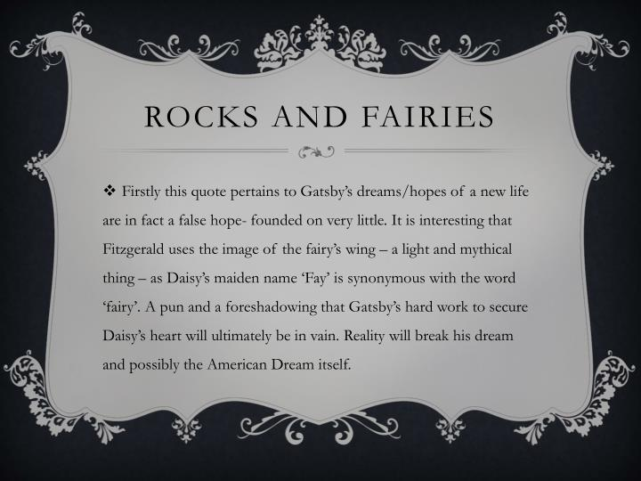 Rocks and fairies