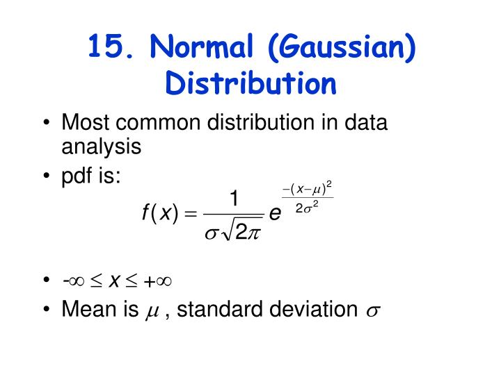 15. Normal (Gaussian) Distribution