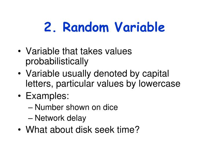 2. Random Variable
