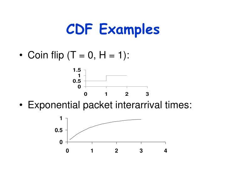 CDF Examples