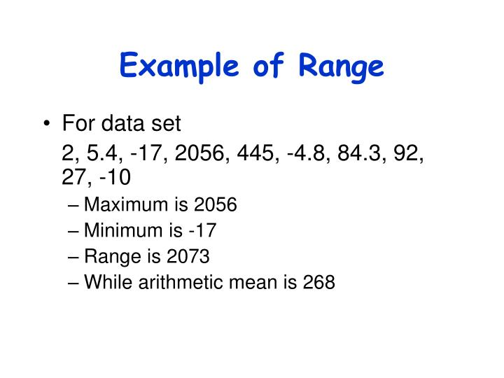Example of Range