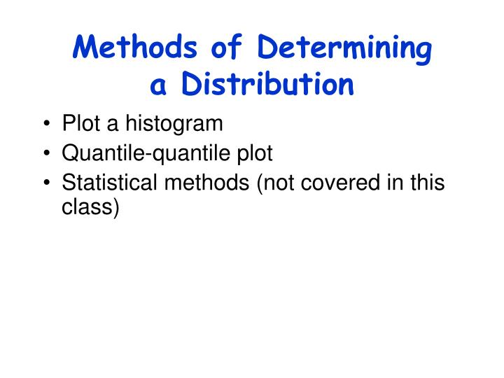Methods of Determining