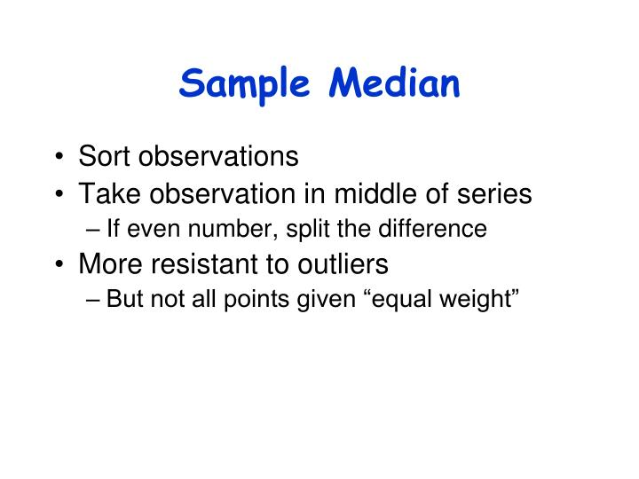 Sample Median