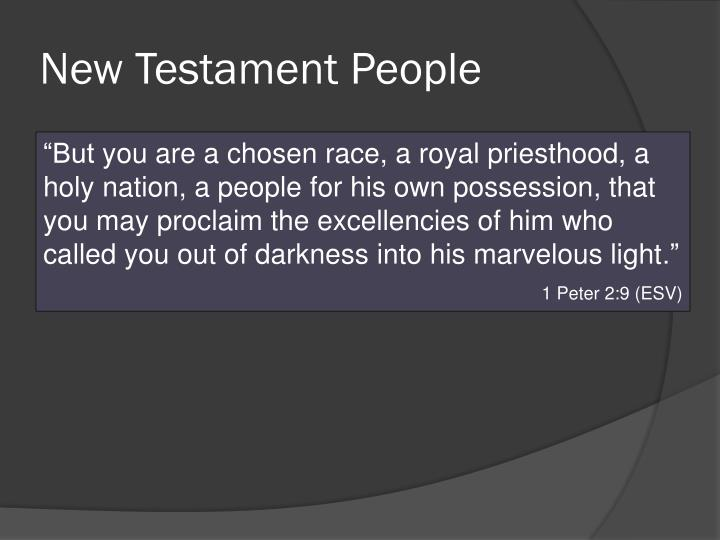 New Testament People