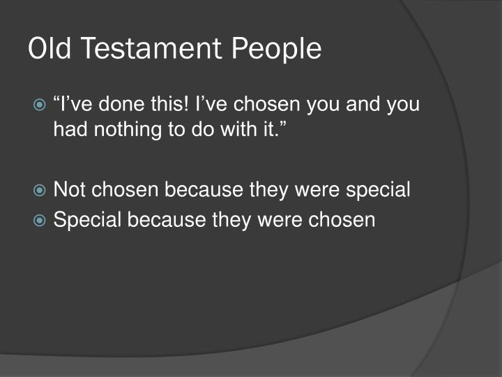 Old testament people
