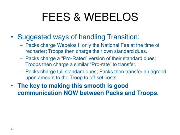 FEES & WEBELOS