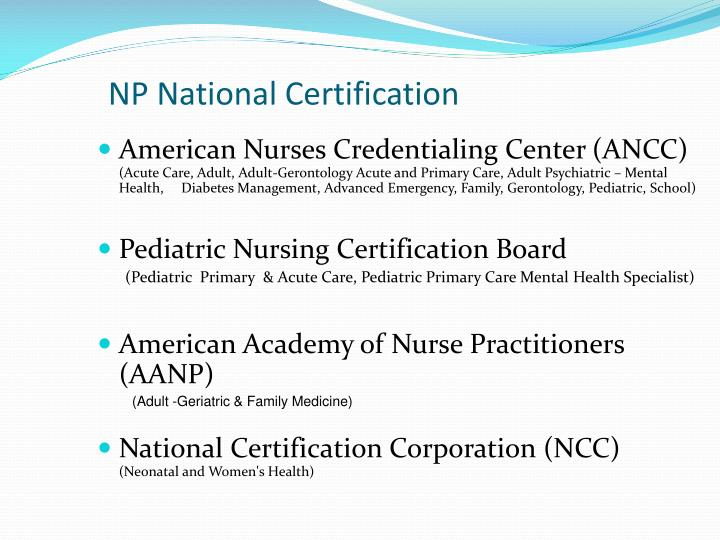 NP National Certification