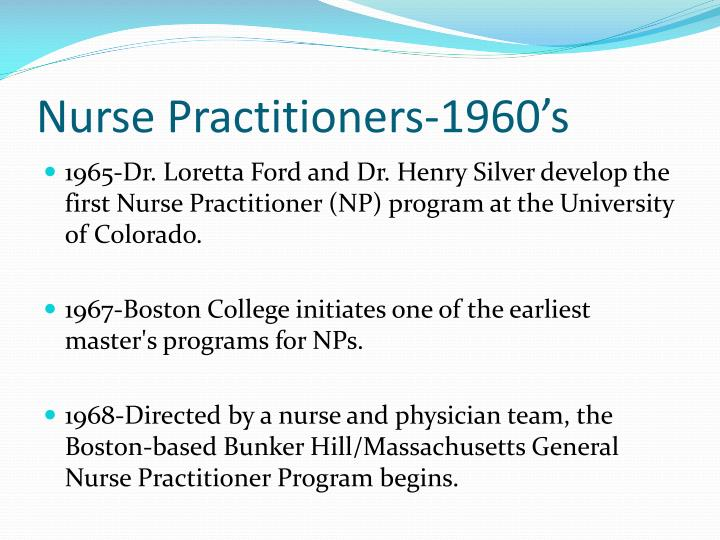 Nurse Practitioners-1960's