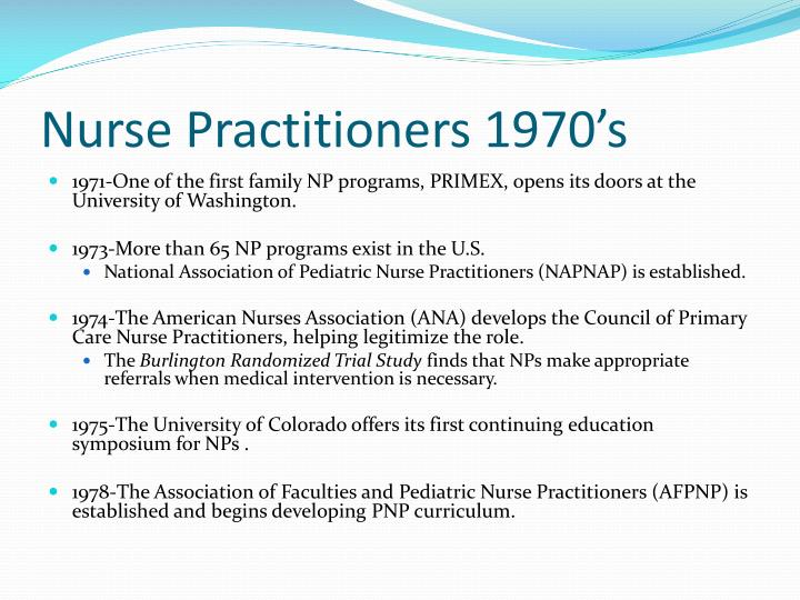 Nurse Practitioners 1970's