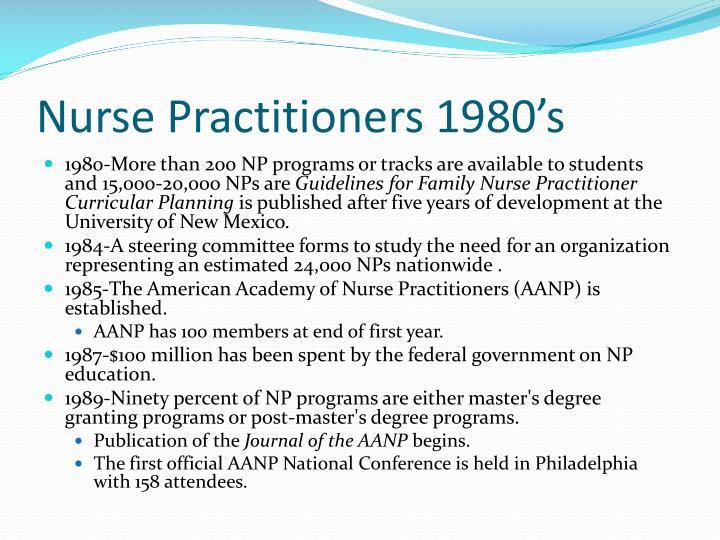 Nurse Practitioners 1980's