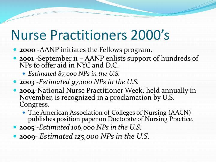 Nurse Practitioners 2000's