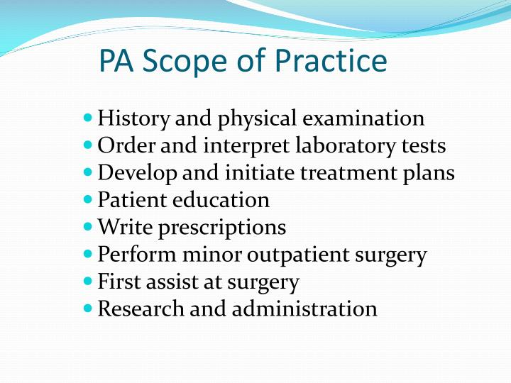 PA Scope of Practice
