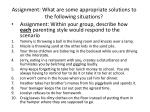 assignment what are some appropriate solutions to the following situations