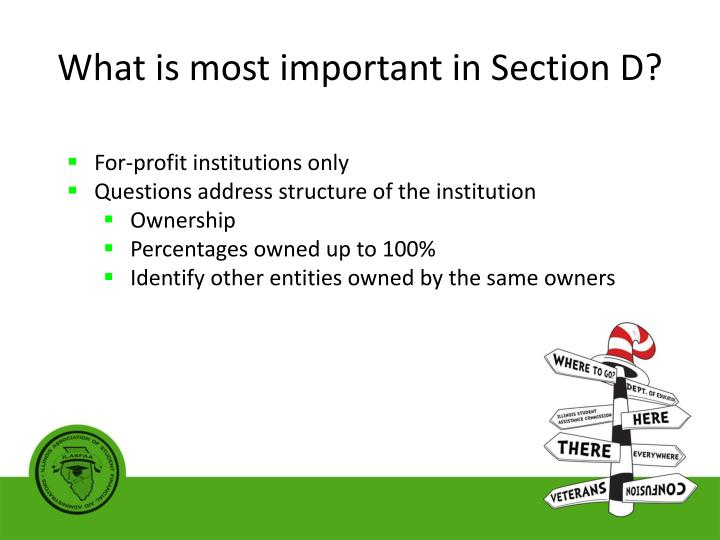 What is most important in Section D?