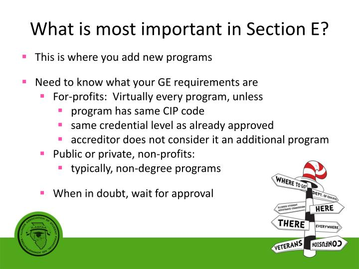 What is most important in Section