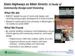 state highways as main streets a study of community design and visioning1