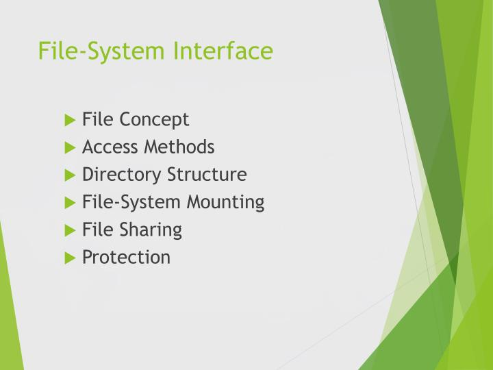 File system interface1