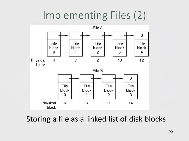 Implementing Files (2)