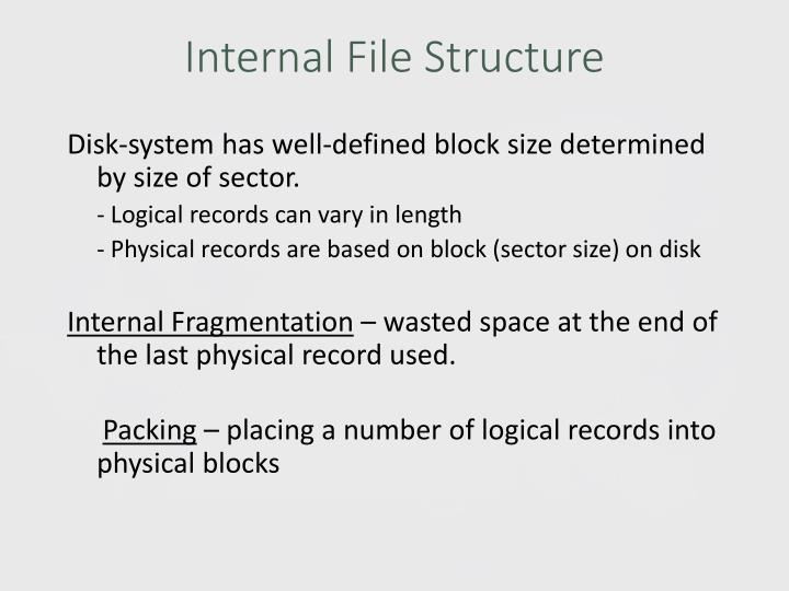 Internal File Structure