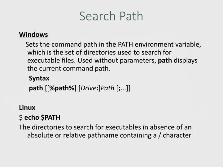 Search Path