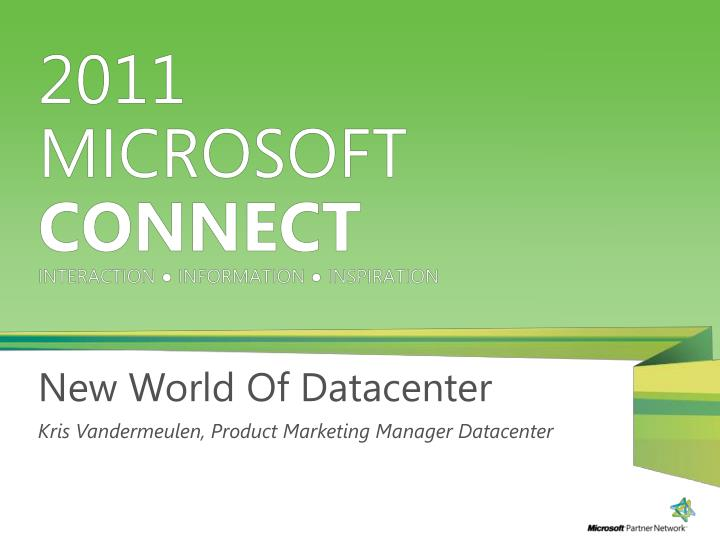 New World Of Datacenter