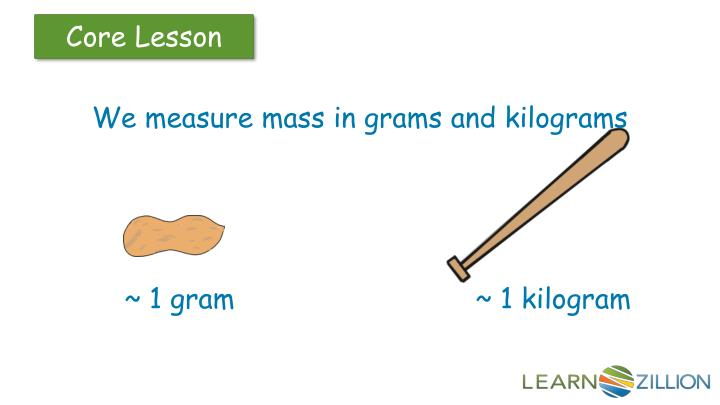 We measure mass in grams and kilograms