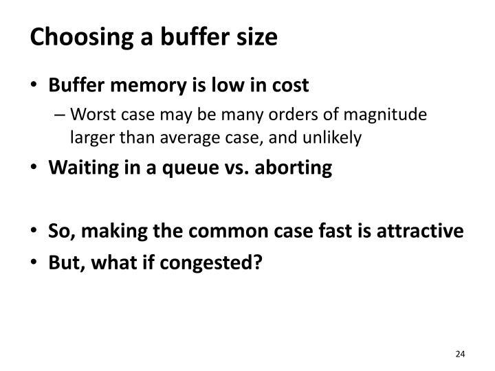 Choosing a buffer size