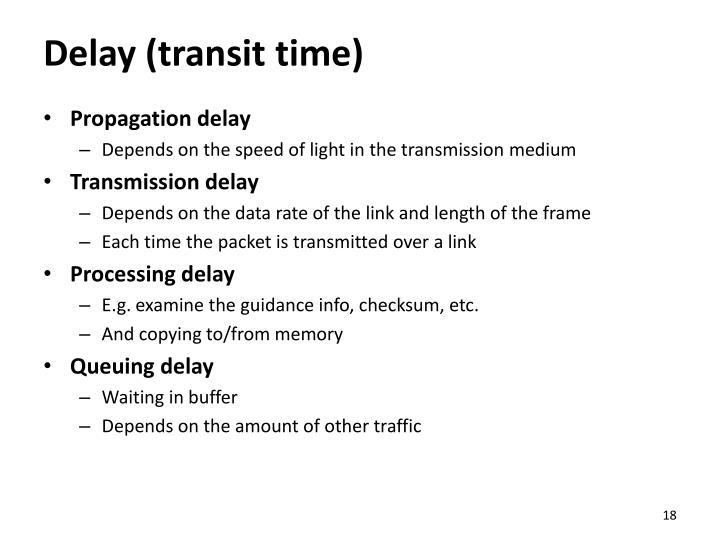Delay (transit time)