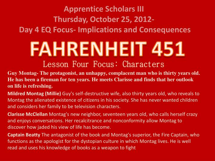 Thesis Statements For Fahrenheit 451