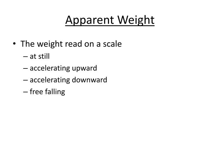 Apparent Weight