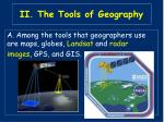 ii the tools of geography