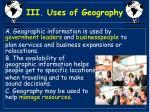 iii uses of geography