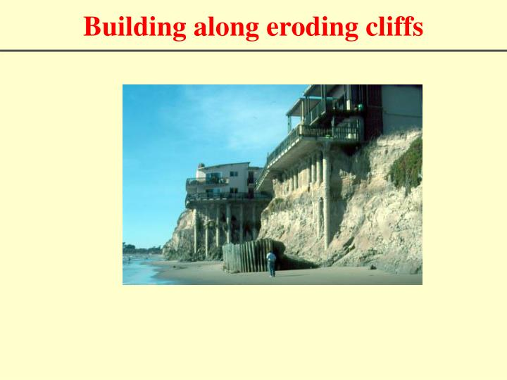 Building along eroding cliffs