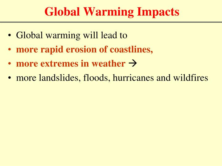 Global Warming Impacts