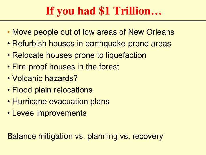 If you had $1 Trillion…