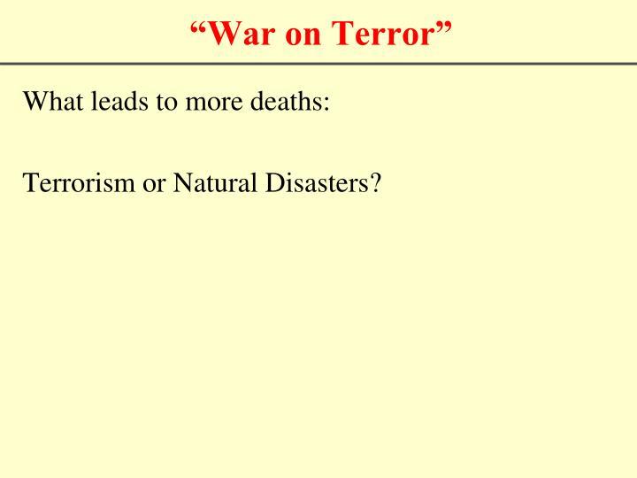 """""""War on Terror"""""""