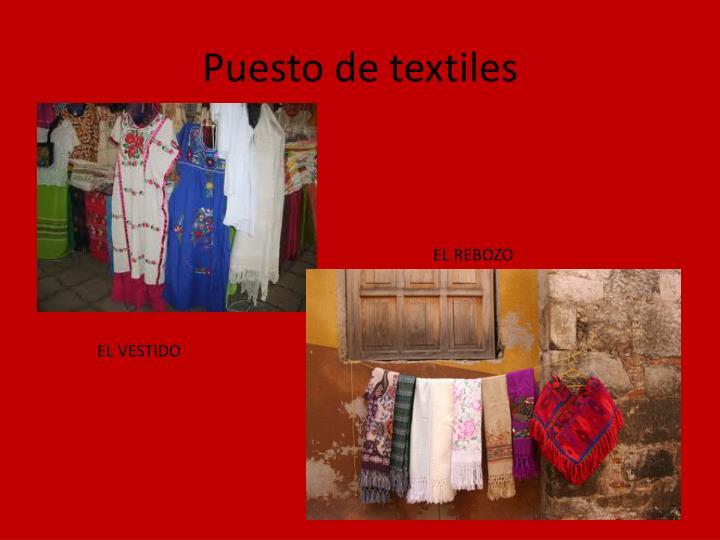 Puesto de textiles