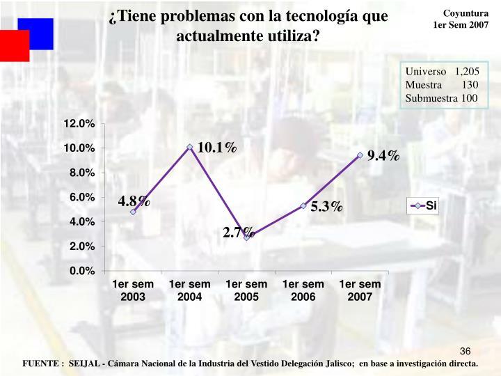 ¿Tiene problemas con la tecnología que actualmente utiliza?