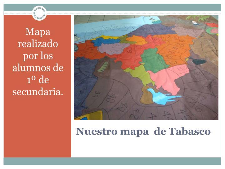 Mapa realizado por los alumnos de 1º de secundaria.