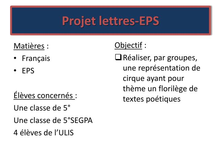 Projet lettres-EPS