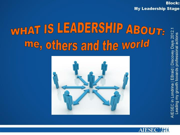 WHAT IS LEADERSHIP ABOUT: