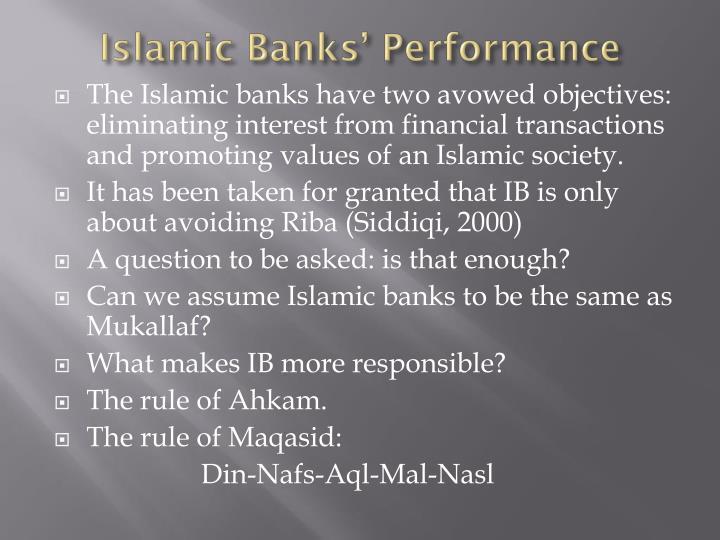 Islamic Banks' Performance