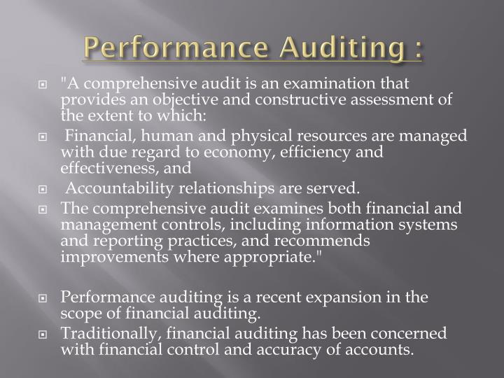 Performance Auditing :