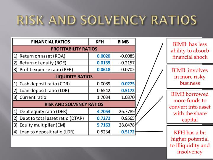 RISK AND SOLVENCY RATIOS