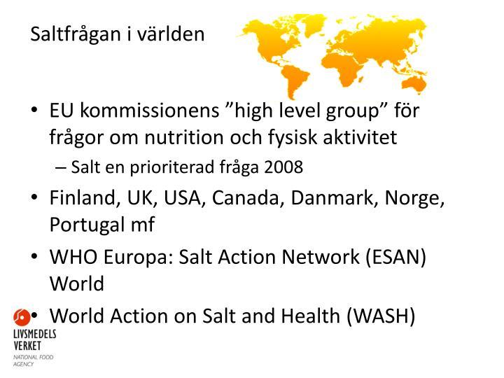 Saltfrågan i världen