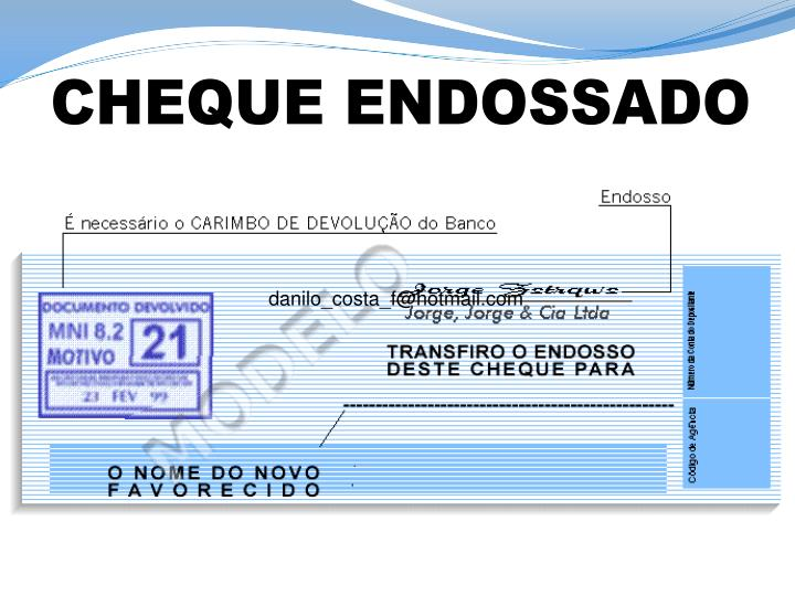 CHEQUE ENDOSSADO
