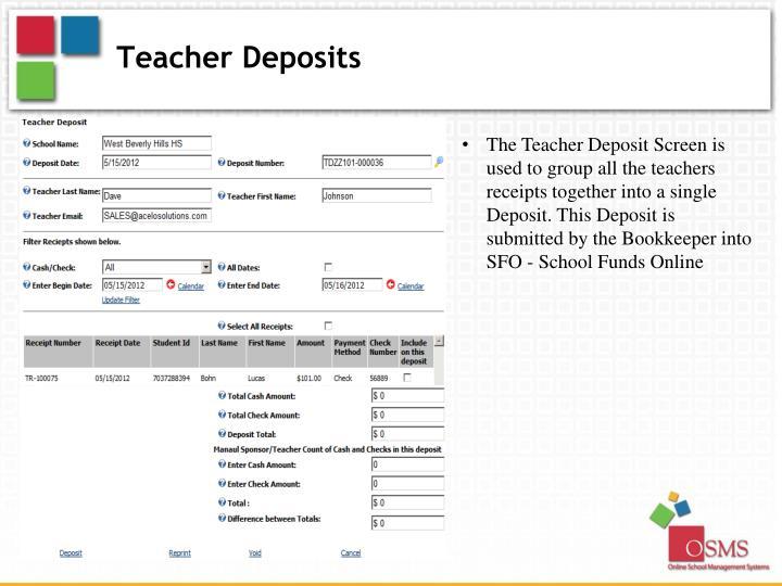 Teacher Deposits
